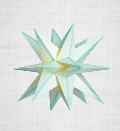 Skillinge 3D papierowa gwiazda wisiorek Lightblue