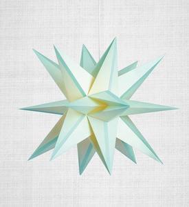 Skillinge 3D papierowa gwiazda wisiorek Lightblue small 0