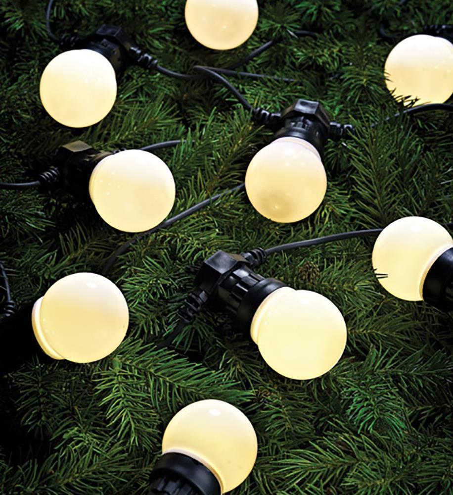 DAKKE świecący łąńcuch 10LOpal biały