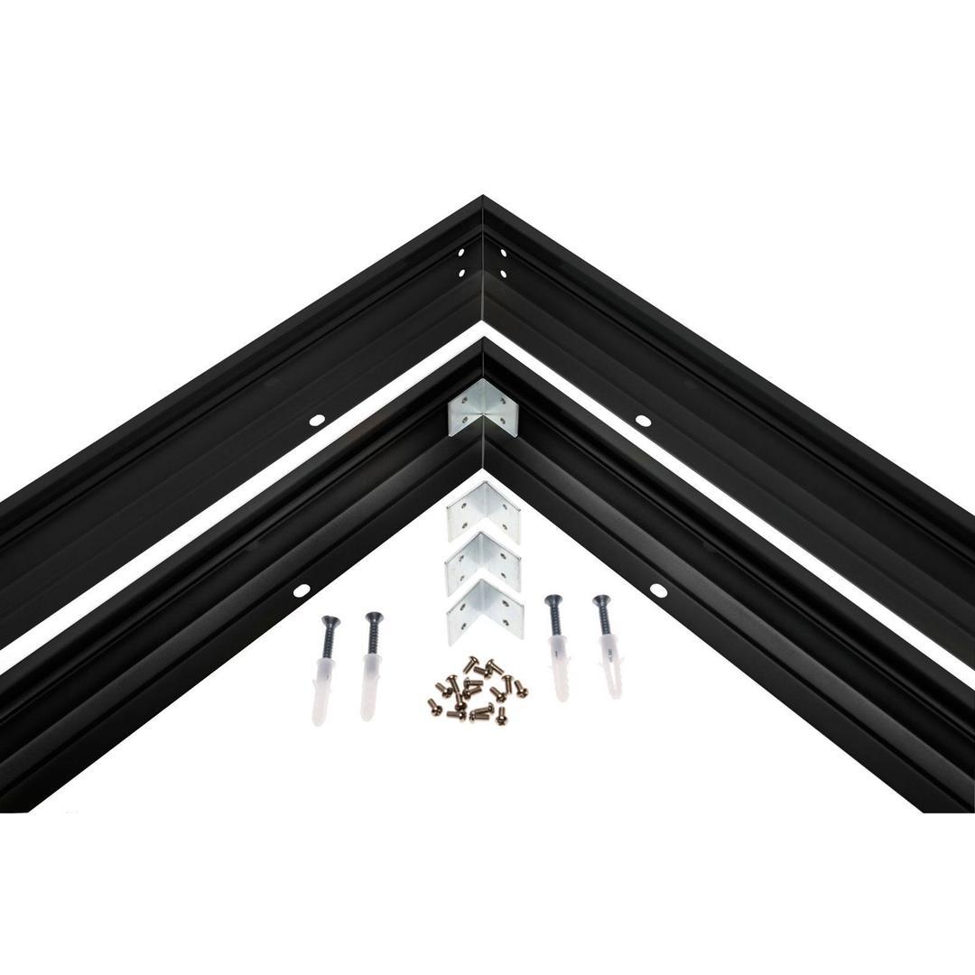 Ramka Do Montażu Natynkowego Czarna Oprawa Algine 600x600