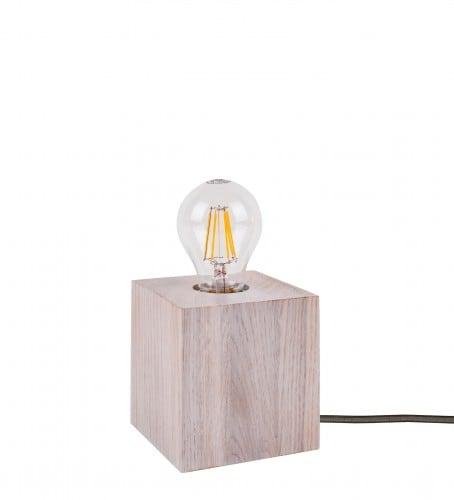 Lampa stołowa Trongo dąb bielony różne kolory kabla E27 60W