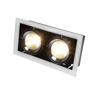 Modern-Day 2cob 45st 230v 2x15w Ip20 Ww Downlight Silver small 1