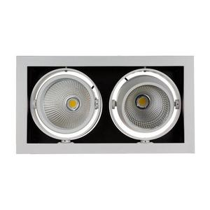 Modern-Day 2cob 45st 230v 2x15w Ip20 Ww Downlight Silver small 0