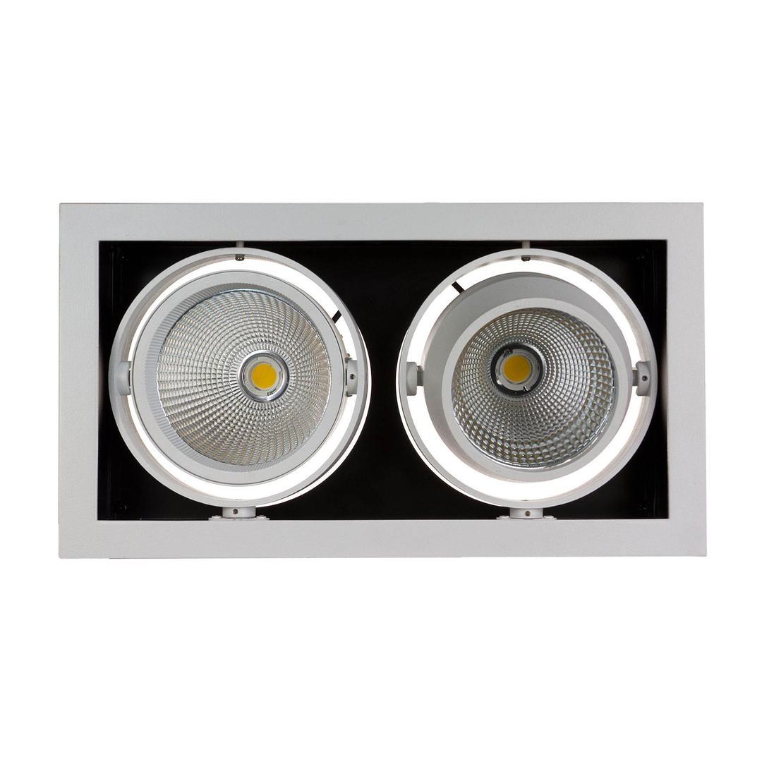 Modern-Day 2cob 45st 230v 2x15w Ip20 Ww Downlight Silver