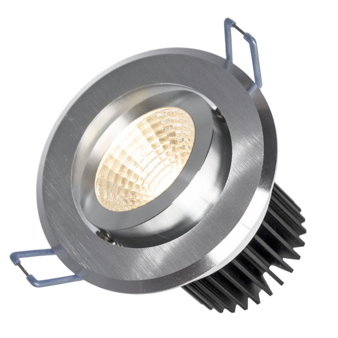 Fiale Ii 6w Cob 38st 230v Cw Oczko Led Pierścień Szczotkowane Aluminium