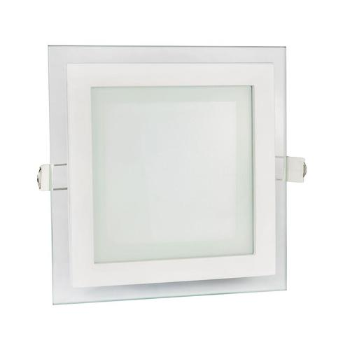 Fiale Eco Led Square 230v 6w Ip20 Ww Sufitowe Oczko Szklane