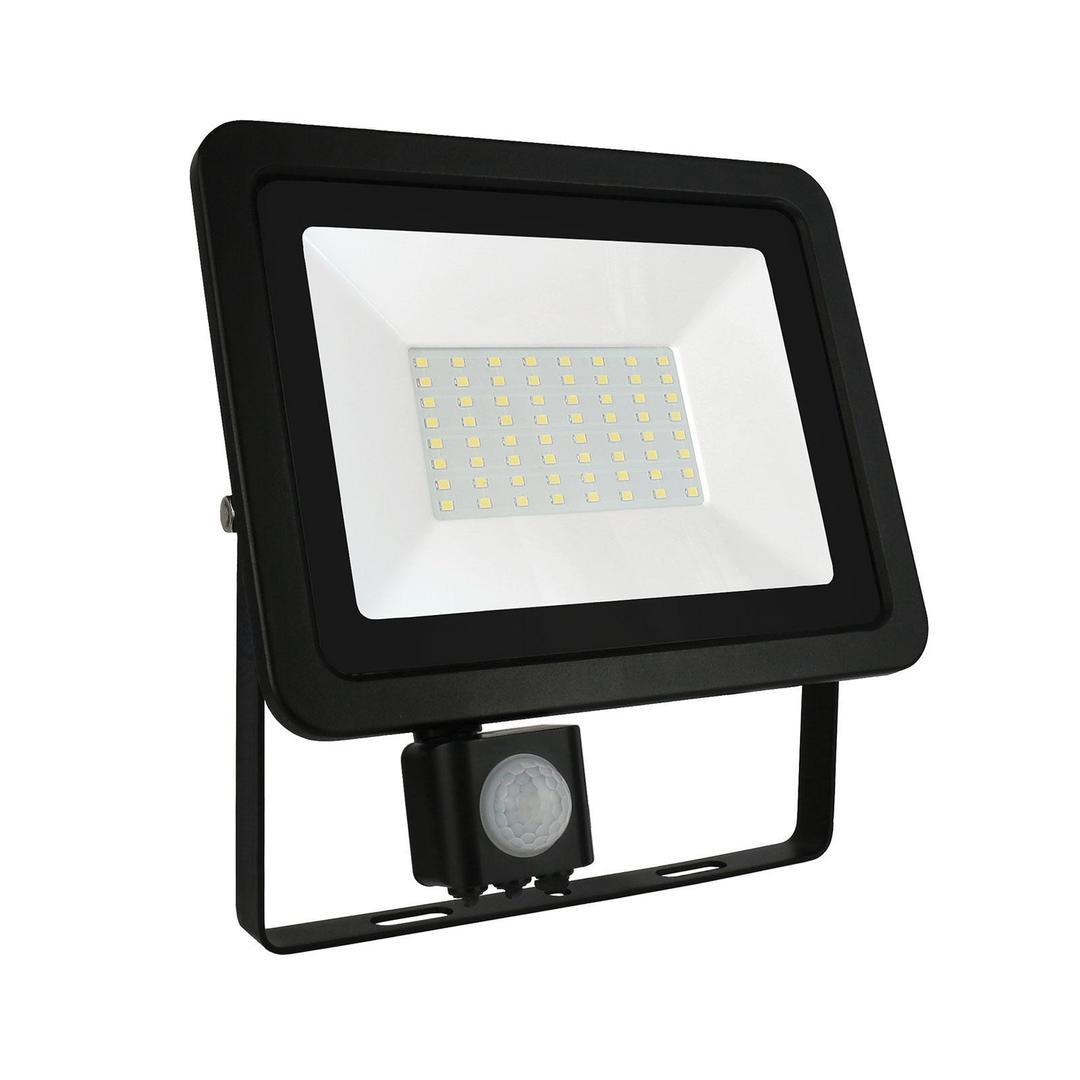 Noctis Lux 2 Smd 230v 50w Ip44 Cw Black With Sensor