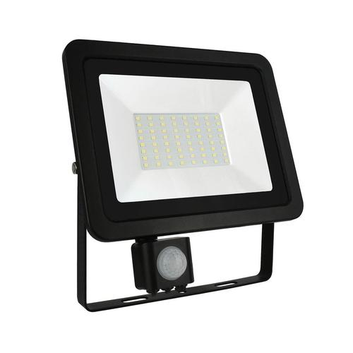 Noctis Lux 2 Smd 230v 50w Ip44 Nw Black With Sensor