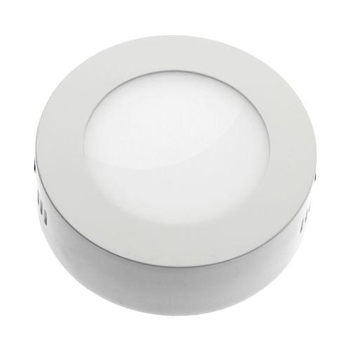 Algine Eco Led Round 230v 6w Ip20 Cw Sufitowe Biała Ramka Natynkowa