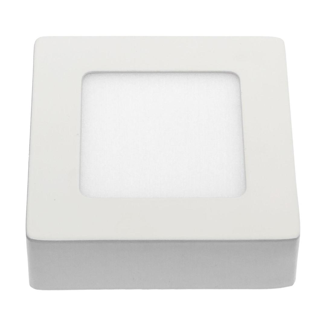 Algine Eco Led Square 230v 6w Ip20 Nw Sufitowe Biała Ramka Natynkowa