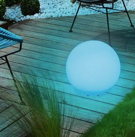 Kula ogrodowa solarna 34cm LED kolorowa, wodoodporna 10