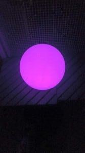 Kula ogrodowa solarna i USB 34cm LED kolorowa, wodoodporna small 5