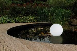 Kula ogrodowa solarna i USB 34cm LED kolorowa, wodoodporna small 2