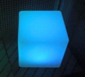 Wodoodporna Lampa Ogrodowa Solarna LED Sześcian small 3