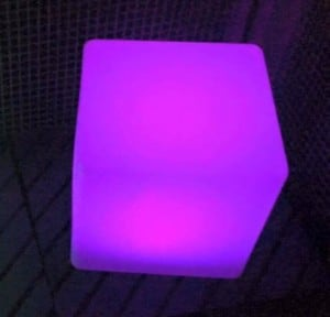 Wodoodporna Lampa Ogrodowa Solarna LED Sześcian small 4