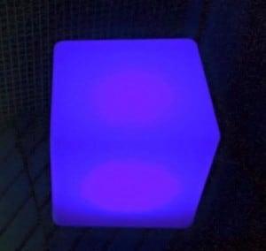 Wodoodporna Lampa Ogrodowa Solarna LED Sześcian small 9