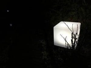 Wodoodporna Lampa Ogrodowa Solarna LED Sześcian small 1
