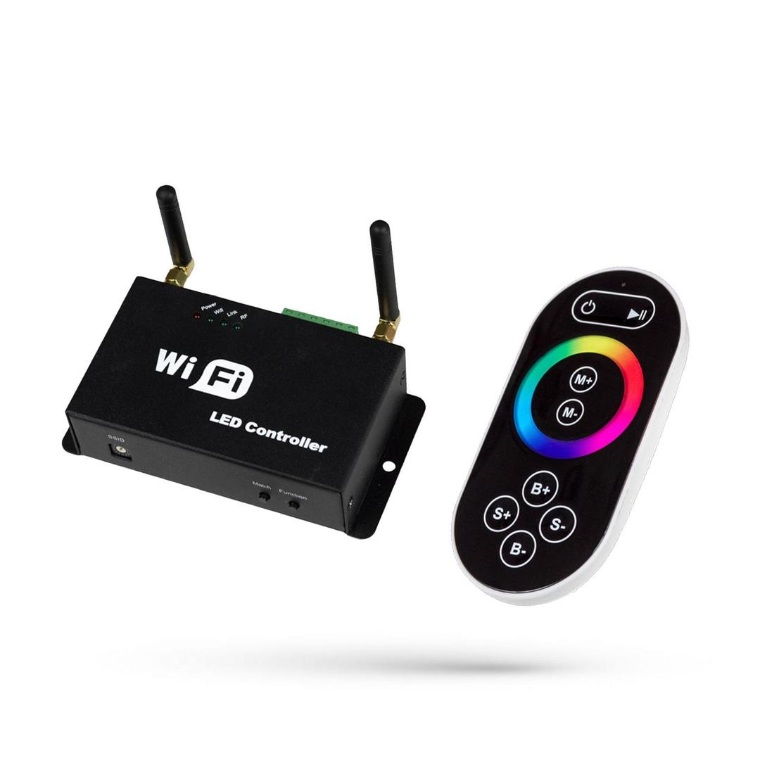 Rgb Controller Play Mini Ii Wifi With Remote-Do Pasków Led / For Led Strips 5-24v Dc 3x4a
