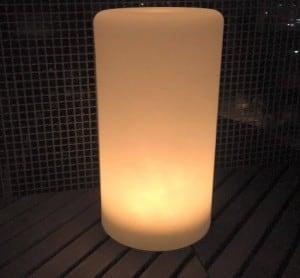 Wodoodporna kolumna lampa solarna LEDowa z funkcją multikoloru do ogrodu (45 cm) small 1