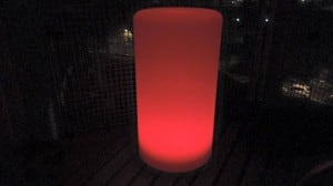Wodoodporna kolumna lampa solarna LEDowa z funkcją multikoloru do ogrodu (45 cm) small 2