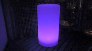 Wodoodporna kolumna lampa solarna LEDowa z funkcją multikoloru do ogrodu (45 cm) small 3