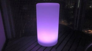 Wodoodporna kolumna lampa solarna LEDowa z funkcją multikoloru do ogrodu (45 cm) small 4