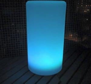 Wodoodporna kolumna lampa solarna LEDowa z funkcją multikoloru do ogrodu (45 cm) small 5