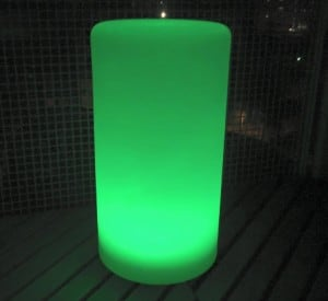 Wodoodporna kolumna lampa solarna LEDowa z funkcją multikoloru do ogrodu (45 cm) small 6