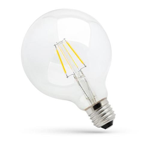 Led Glob G95 Cog E-27 230v 4w Ww Clear Spectrum