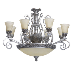 Lampa wisząca Bologna Country 11 Srebrny - 254011512 small 0