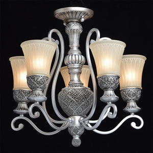 Lampa wisząca Bologna Country 5 Srebrny - 254013605 small 1
