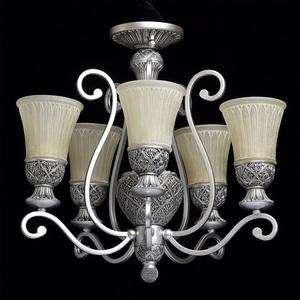 Lampa wisząca Bologna Country 5 Srebrny - 254013605 small 2