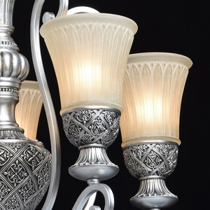 Lampa wisząca Bologna Country 5 Srebrny - 254013605 small 4