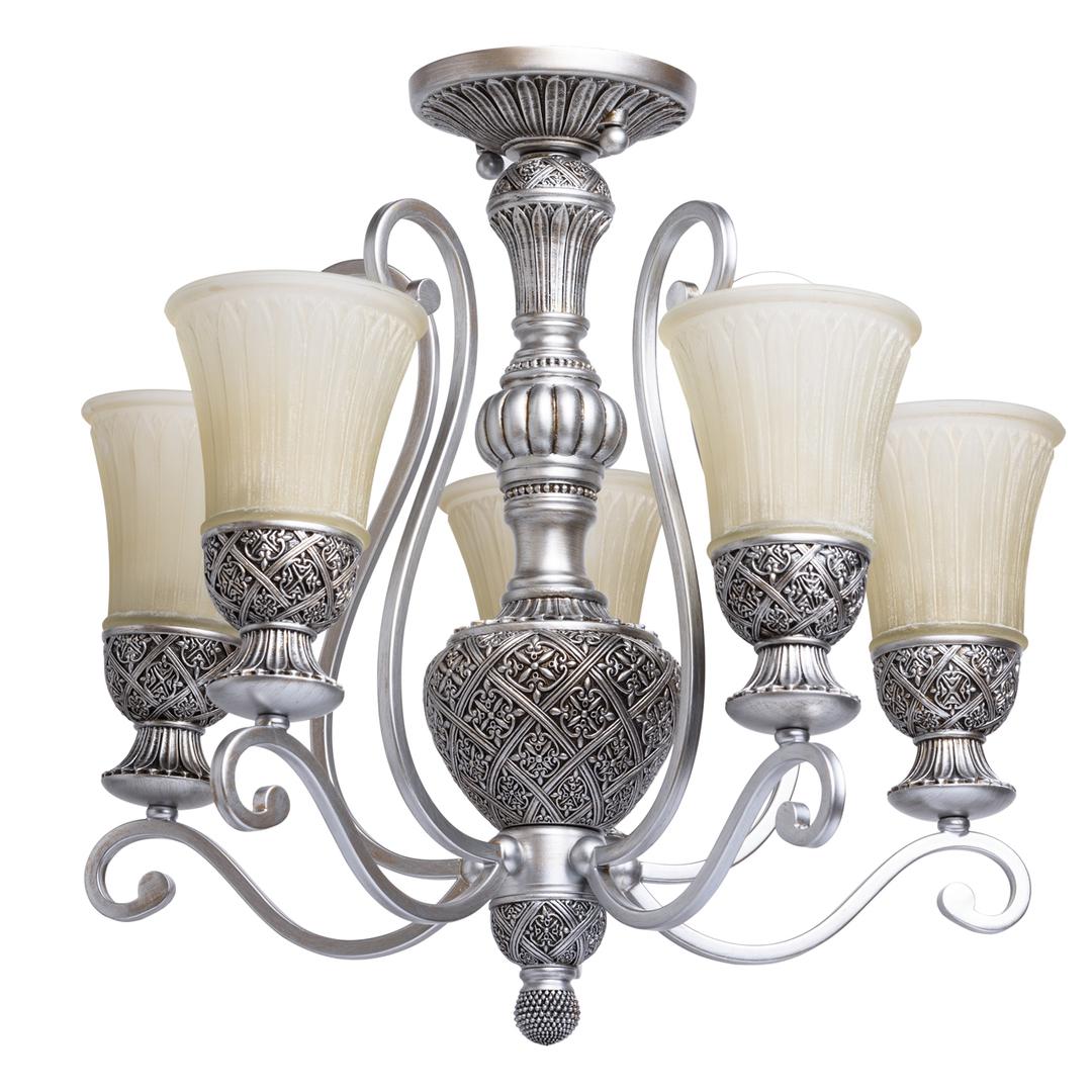 Lampa wisząca Bologna Country 5 Srebrny - 254013605