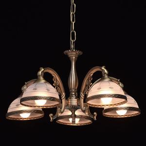 Lampa wisząca Amanda Classic 5 Mosiądz - 295011005 small 2