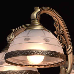 Lampa wisząca Amanda Classic 5 Mosiądz - 295011005 small 4