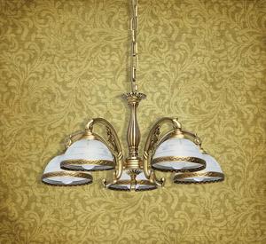Lampa wisząca Amanda Classic 5 Mosiądz - 295011005 small 12