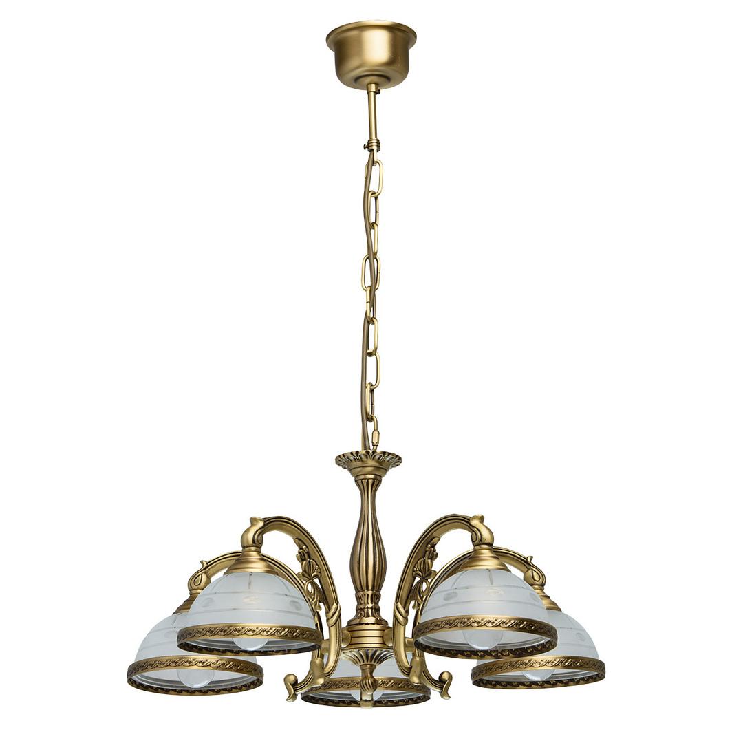 Lampa wisząca Amanda Classic 5 Mosiądz - 295011005