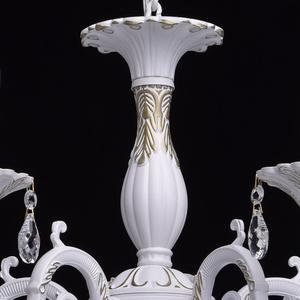 Żyrandol Candle Classic 5 Biały - 301014605 small 8