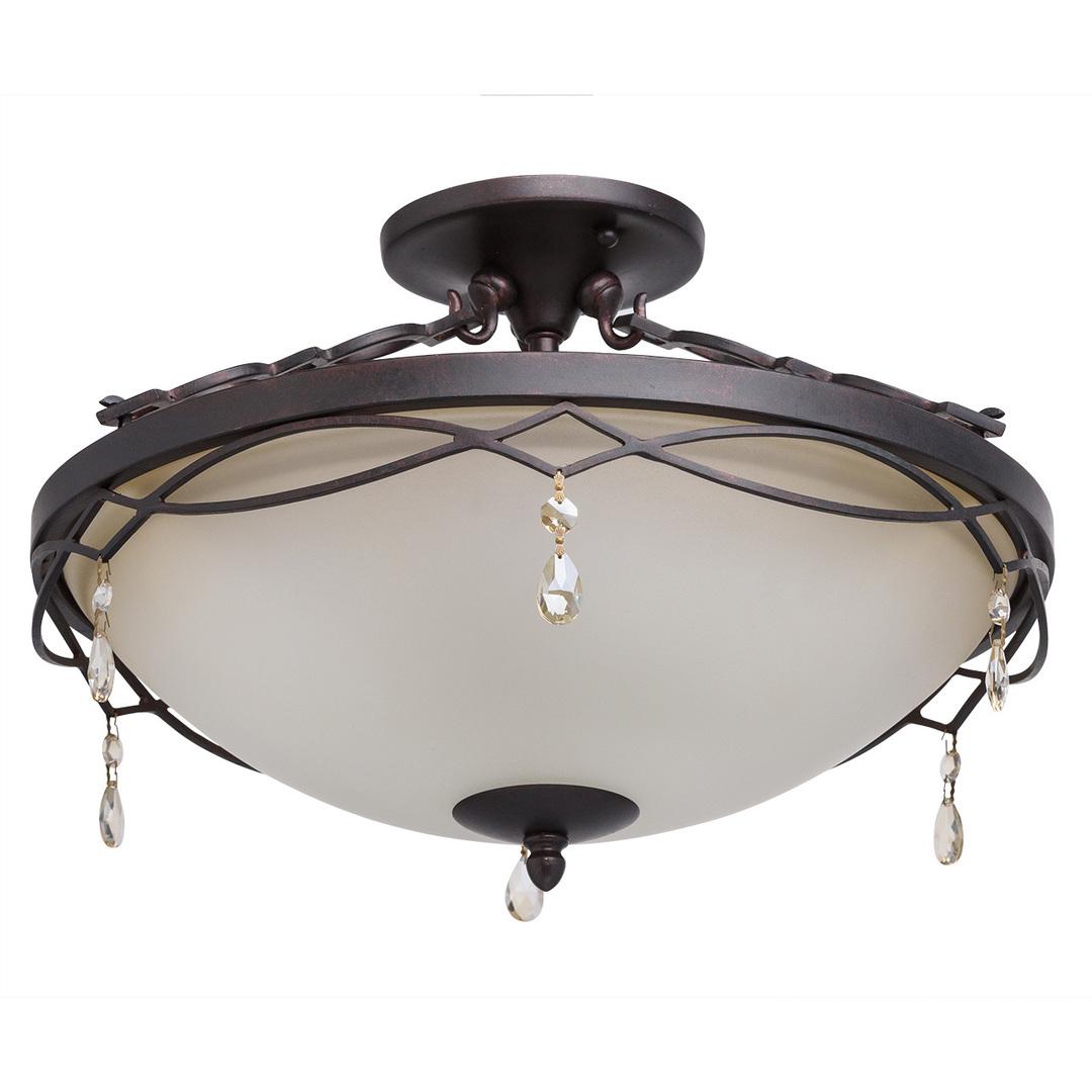 Lampa wisząca Magdalena Country 3 Brązowy - 382010703