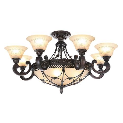 Lampa wisząca Magdalena Country 12 Brązowy - 382012812