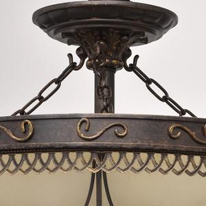 Lampa wisząca Magdalena Country 5 Brązowy - 382018205 small 6