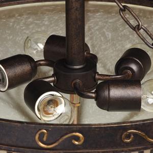Lampa wisząca Magdalena Country 5 Brązowy - 382018205 small 7