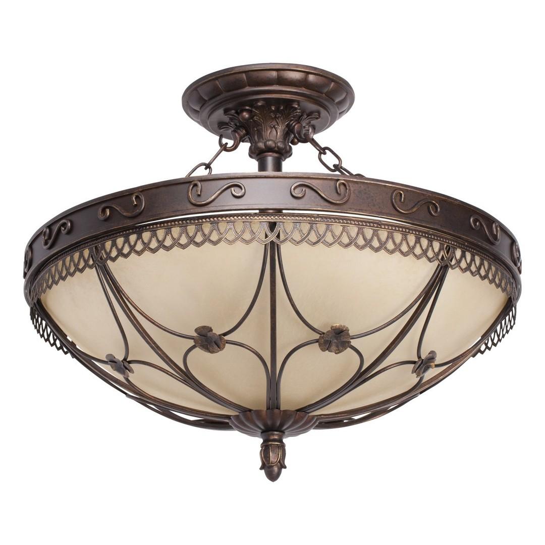 Lampa wisząca Magdalena Country 5 Brązowy - 382018205