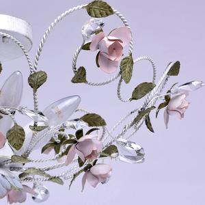 Lampa wisząca Provence Flora 6 Biały - 421013406 small 5