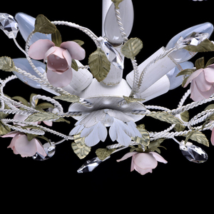 Lampa wisząca Provence Flora 6 Biały - 421013406 small 6
