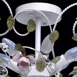 Lampa wisząca Provence Flora 6 Biały - 421013406 small 10
