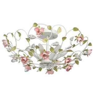 Lampa wisząca Provence Flora 6 Biały - 421013406 small 0