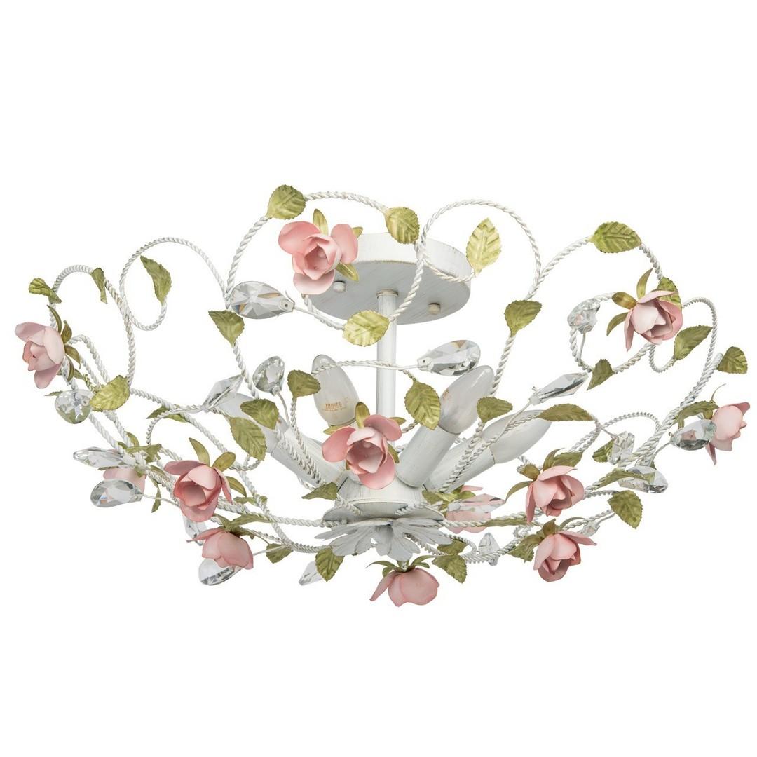 Lampa wisząca Provence Flora 6 Biały - 421013406