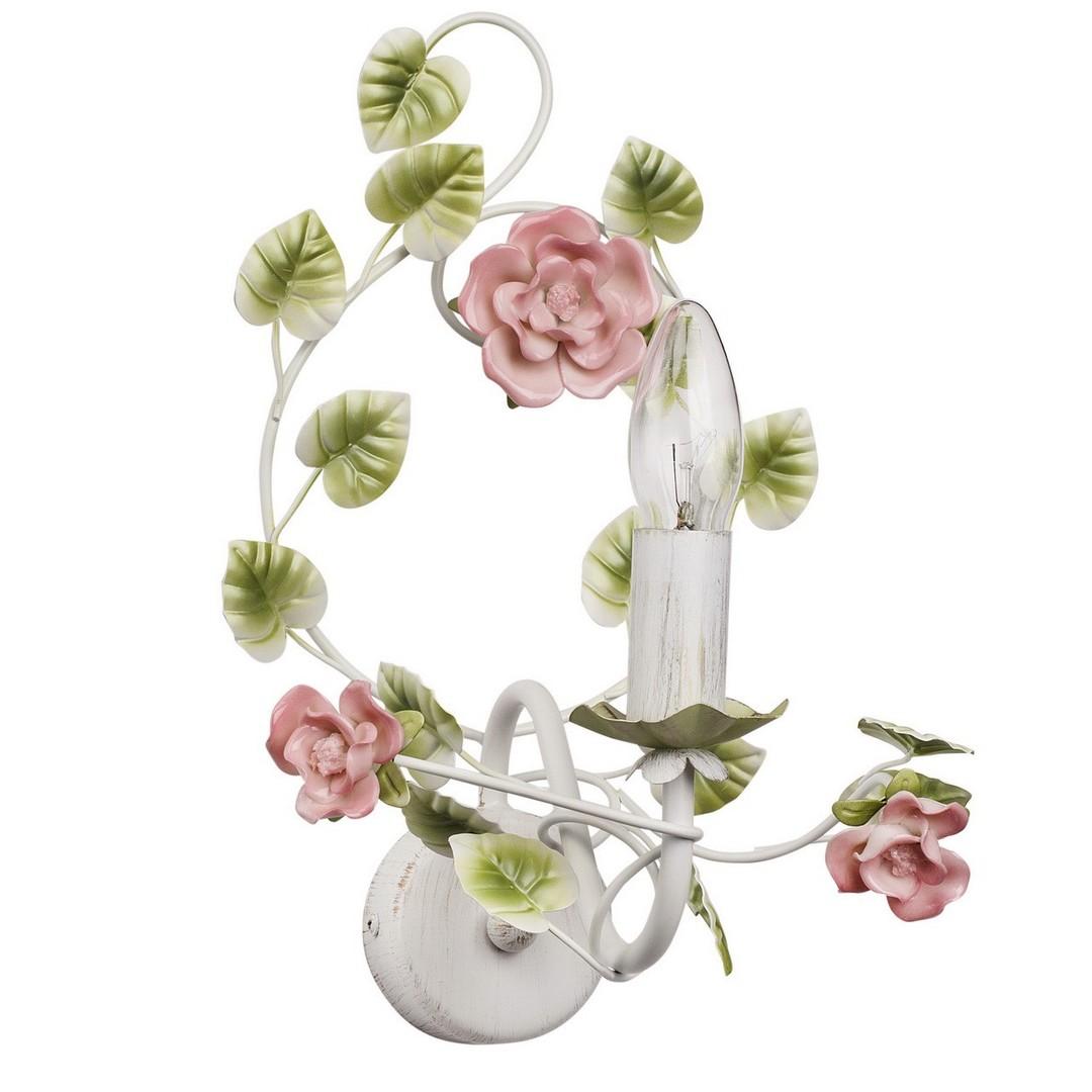 Kinkiet Provence Flora 1 Biały - 421023901